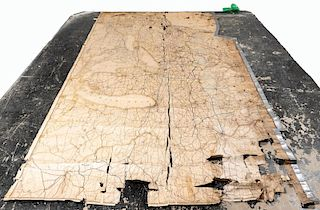 Large Early American Railroad Map Of United States