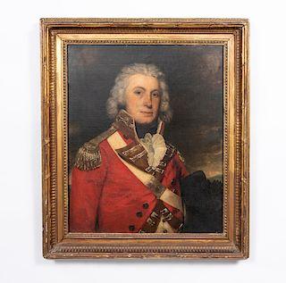 19th C. British School O/C Portrait of an Officer