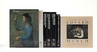 Arwas, Victor / Brooke, Peter / McCully, Marilyn / Prelinger, Elizabeth... Libros sobre Artistas de Principios de Siglo. Pzs: 7.