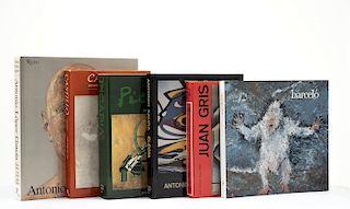 Borrás, María Lluïsa / Brenson, Michael / Ratcliff, Carter / Gaya Nuño, Juan Antonio. Libros sobre Pintores Españoles. Pzs: 6.