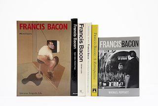 Gowing, Lawrence / Ades, Dawn / Farr, Dennis / Leiris, Michel / Pepita, Michael. Libros sobre Francis Bacon. Pzs: 6.