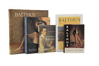 Vircondelet, Alain / Colle, Marie-Pierre / Clair, Jean / Fox Weber, Nicholas / Leymarie, Jean. Libros sobre Balthus. Piezas: 5.