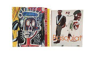 Ahrens, Carsten / Carotti, Elena / Millet, Bernard / Marshall, Richard / Store, Robert. Libros sobre Jean-Michel Basquiat. Piezas. 5.