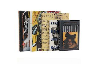 Kawachi, Taka / Hoban, Phoebe / Marshall, Richard / Gianni, Mercurio. Libros sobre Jean-Michel Basquiat. Piezas: 5.