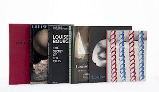Ahrens, Carsten / Crone, Rainer / Kotik, Charlotta / Morgan, Stuart. Libros sobre Louise Bourgeois. Piezas: 6.