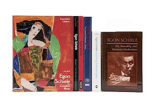 Kallir, Jane / Werner, Patrick / Fischer, Wolfgang Georg / Dabrowski, Magdalena. Libros sobre Egon Schiele. Piezas: 6.