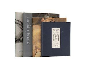 Feaver, William / Figura, Starr / Calvocoressi, Richard. Libros sobre Lucian Freud. Piezas: 4.