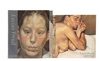 Lampert, Catherine / Gowing, Lawrence / Hughes, Robert / Feaver, William. Libros sobre Lucian Freud. Pzs: 4.