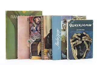 Kuspit, Donald / López Anaya, Jorge / Camón Aznar, José... Libros sobre Ramiro Llona, Rómulo Macció, Antonio Berni... Pzs: 6.