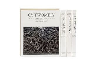 Bastian, Heiner. Cy Twombly, Catalogue Raisonné of the Paintings. München: Schirmer Mosel, 1992. Tomos I - IV. Piezas: 4.