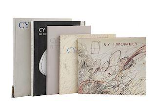 Varnedoe, Kirk / Schmidt, Katharina. Libros sobre Cy Twombly.  Pzs: 5.