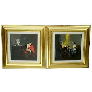 Two Antonio Tamburro Giclee's on Canvas