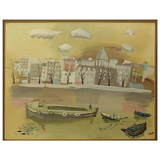 Charles Levier, French (1920 - 2003) Gouache