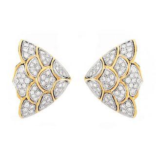 Vintage Diamond and 18K Earrings