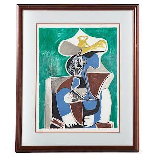 """Marina Picasso, after Pablo. """"Buste Au Chapeau..."""""""