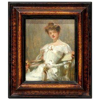 An impressionist portrait Paul Emile Chabas (1869 - 1937)