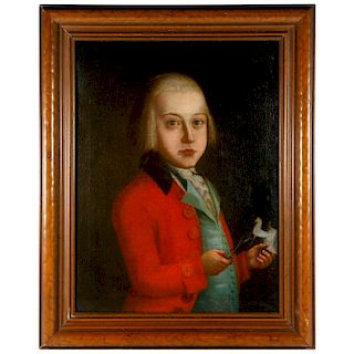 An 18th century portrait of a child.