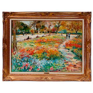 An impressionist landscape by Max Agostini (1914 - 1997).