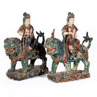 Two 19th century Chinese carvings.