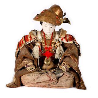 A Japanese warrior doll.