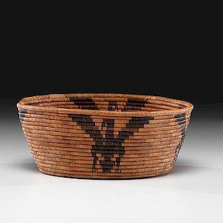 California Cahuilla Mission Figural Basket