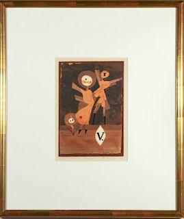 """Paul Klee """"Blumenfamilie"""" Lithograph & Pochoir"""