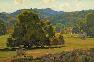 William Wendt (1865–1946): The First Touch of Autumn (1925)