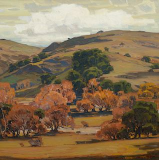 William Wendt (1865–1946): Clouds of Silver (1920)
