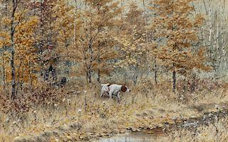 Arthur Burdett Frost (1851-1928) Fall Woodcock Shooting