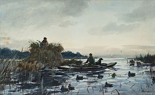 Ogden M. Pleissner (1905-1983) Duck Hunting