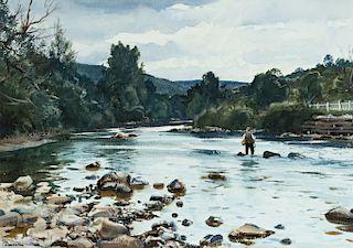 Ogden M. Pleissner (1905-1983) Fishing on the Battenkill