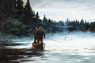 John Swan (b. 1948) Three Mile Rapids - Merrimac River