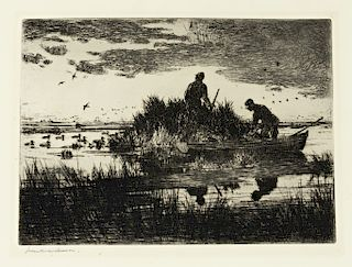 Frank W. Benson (1862-1951) Duck Blind