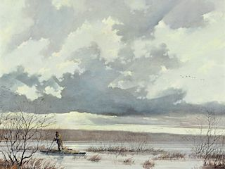 Eric Sloane (1905-1985) Shoreline