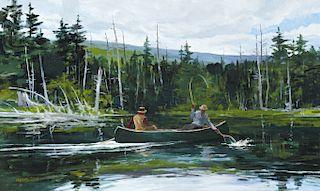 Chet Reneson (b. 1934) Trout Fishing