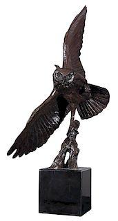 Walter T. Matia (b. 1953) Great Horned Owl