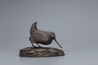 Jim Foote (1925-2004) Woodcock in Leaves