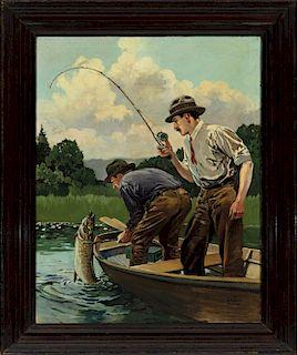 Lynn Bogue Hunt (1878-1960) Muskie Fishing