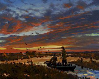 Brett James Smith (b. 1958) Duck Pond at Dawn