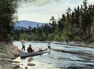 Brett James Smith (b. 1958) Salmon Fishing