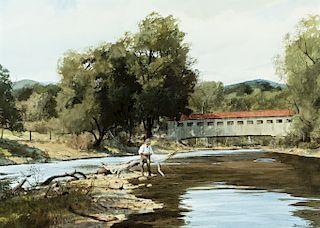 Brett James Smith (b. 1958) Fishing Bridge