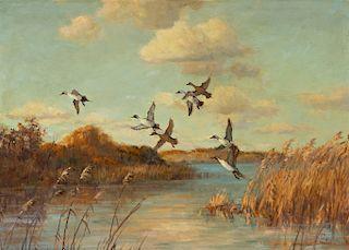 Frank Vining Smith (1879-1967) Startled Ducks