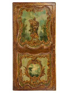 A French Painted Door Panel