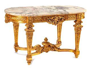 A Régence Style Giltwood Salon Table