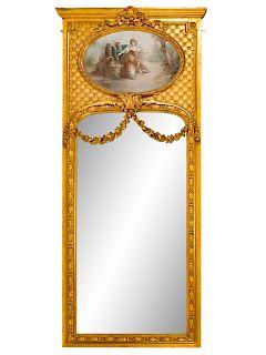 A Louis XV Style Trumeau Mirror