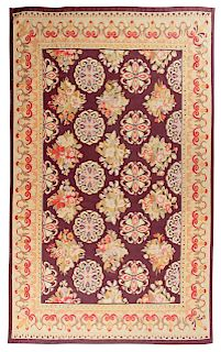 An Aubusson Wool Rug