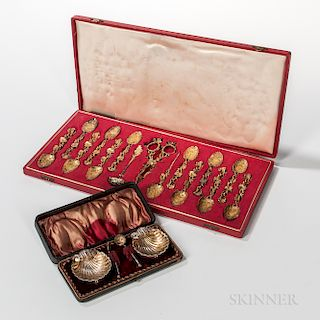 Two Boxed Sets of Silver Flatware