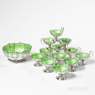 George V Sterling Silver Dessert Service