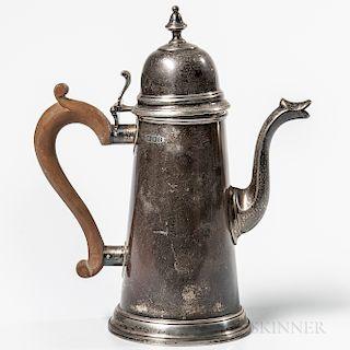 Elizabeth II Sterling Silver Coffeepot