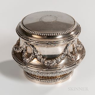 French .950 Silver Lidded Box